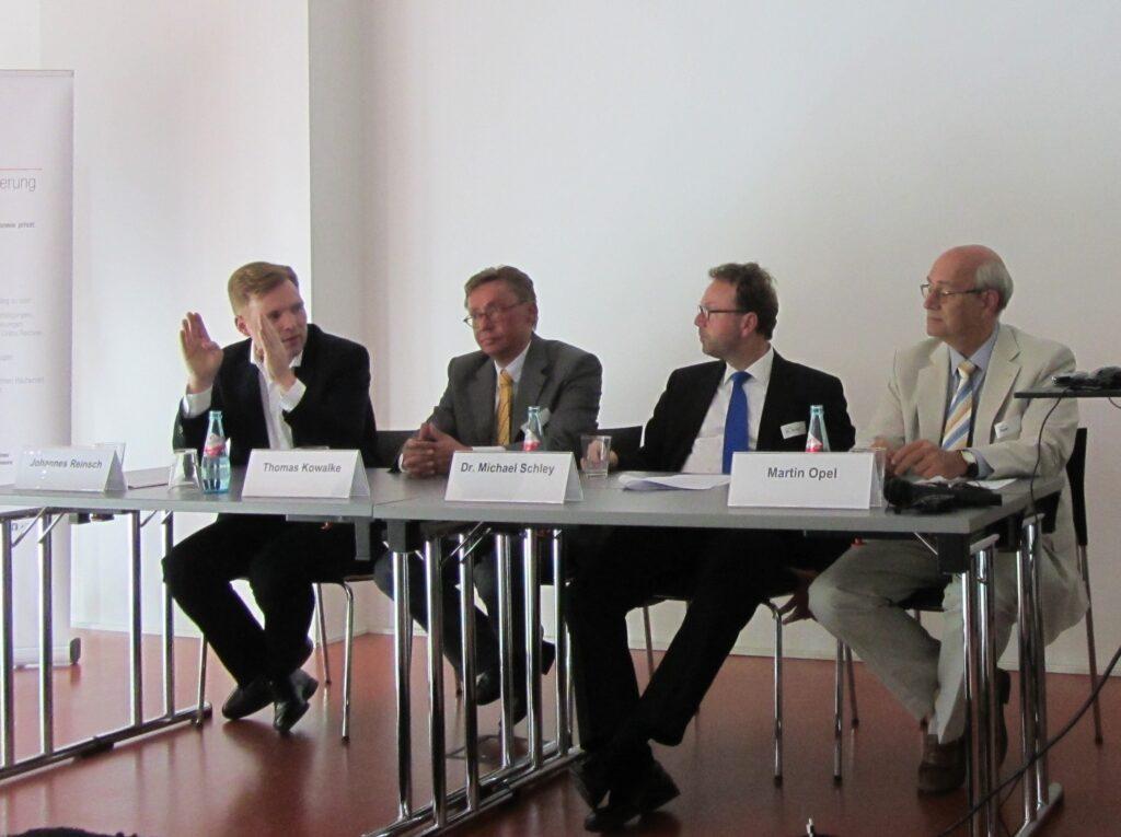 V.l.n.r.: Johannes Reinsch, Thomas Kowalke, Dr. Michael Schley, Martin Opel