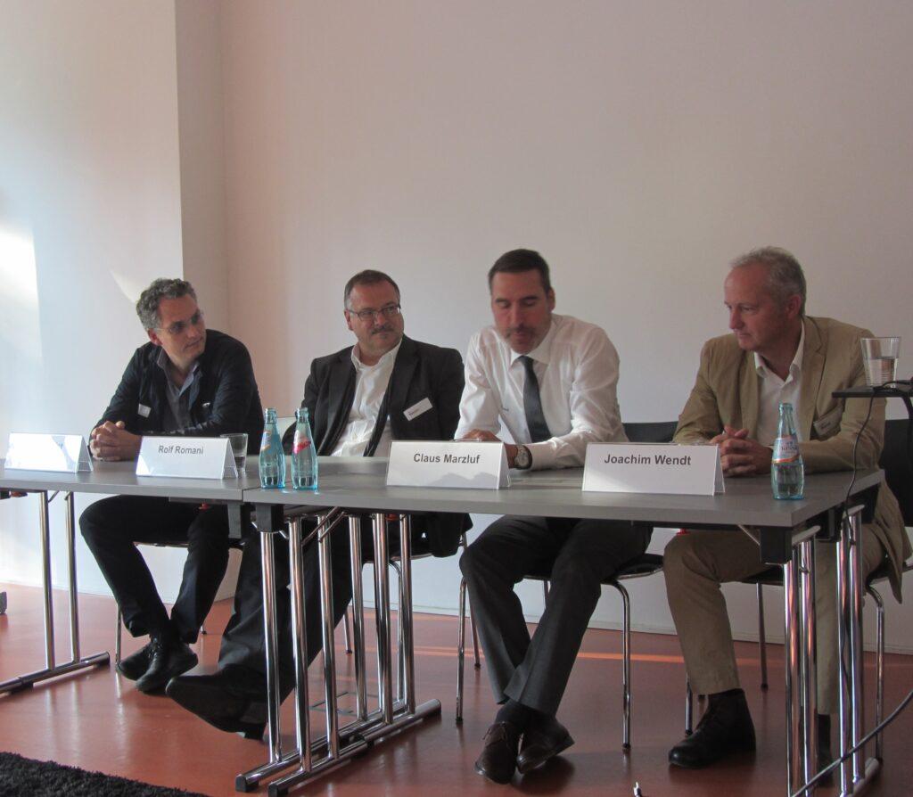 V.l.n.r.: Roger Christ, Rolf Romani, Claus Marzluf, Joachim Wendt