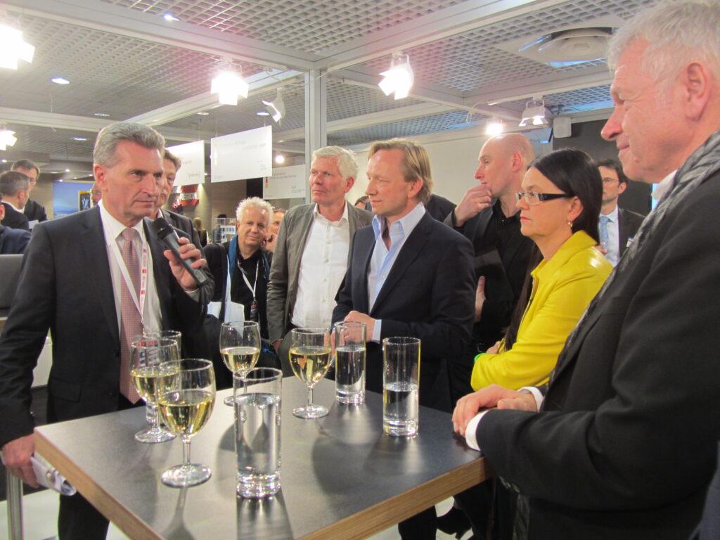 EU-Kommissar Oettinger auf dem German Pavilion