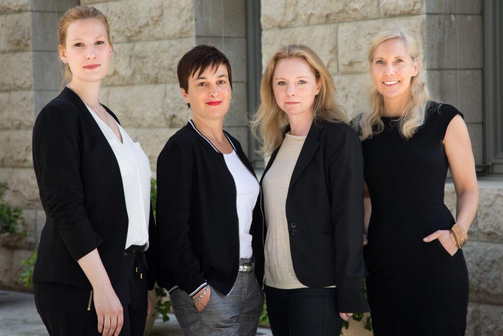 v.l.n.r.: Friederike Schönhardt, Claudia Sanders, Inga Stein-Barthelmes und Melanie Läge