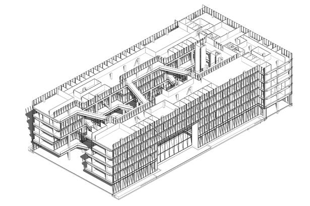 BIM-Modell des MCI Headquarter