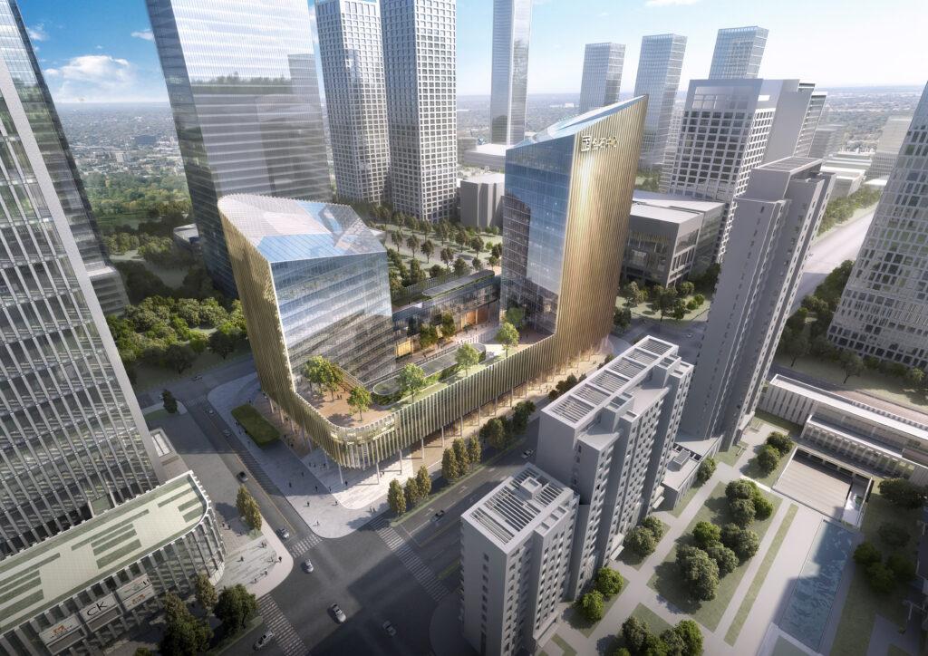 AIC an der Seite der Planer: Neubau eines Bürokomplexes in der Central Business Area im chinesischen Jinan von ©Gerber Architekten