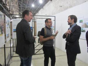 Jia Rong (Direktorin der Dashilar Platftorm) im Gespräch mit Prof. Ralf Nibergall
