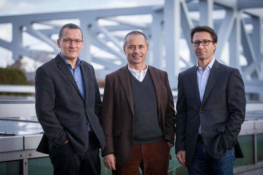 v.l.n.r.: Thomas Kramps, Prof. Rainer Hascher, Prof. Sebastian Jehle