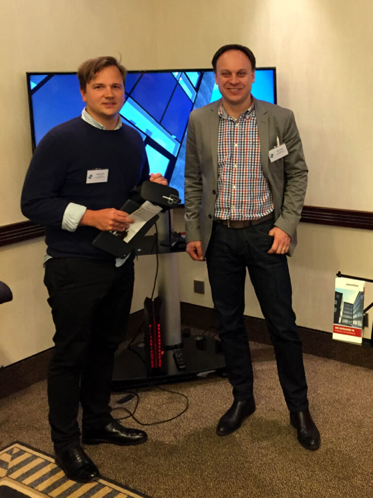 BIM-Koordinator Michael Korte (rechts) und der geschäftsführende Gesellschafter Björn Fiege