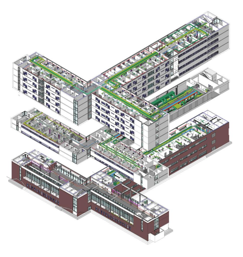 BIM-Modell des Aarhus Uniklinikum