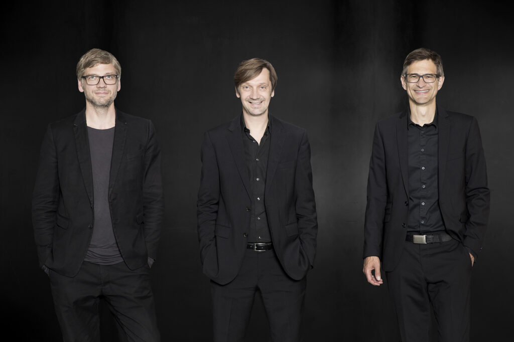 v.l.n.r.: Rüdiger Ebel, Volker Halbach, Carsten Venus