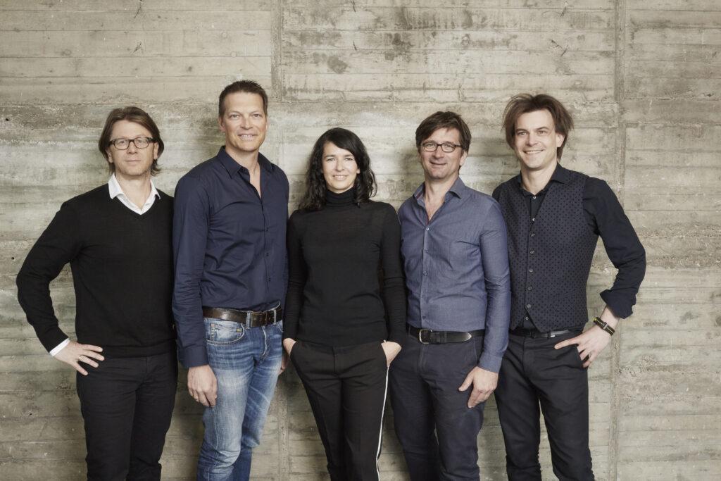 (v.l.): Stefan Haass, Gerhard Wittfeld, Jasna Moritz, Dirk Lange, Kilian Kada