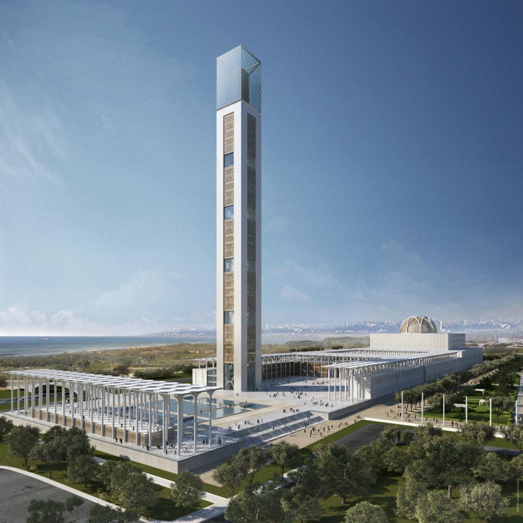 "Neubau Große Moschee von Algier - ""Djamaa el Djazair"", Rendering"