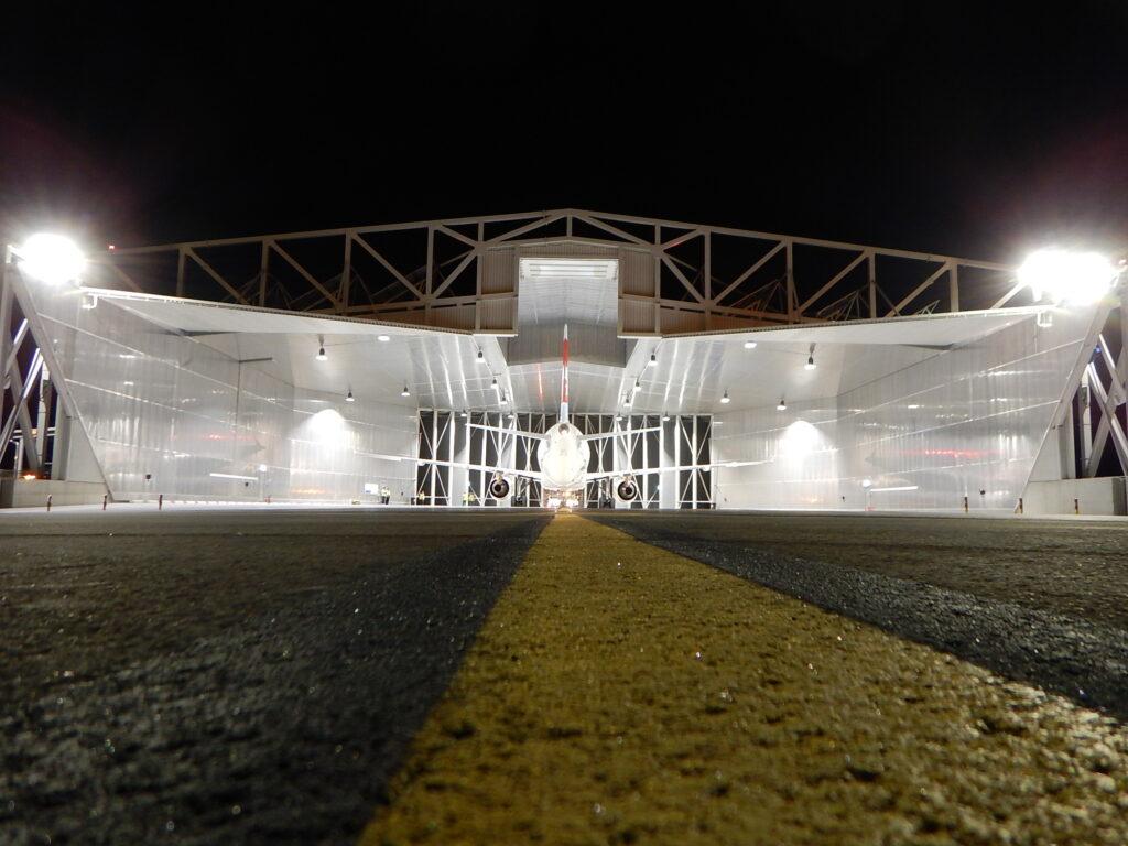 Lärmschutzhalle Flughafen Genf