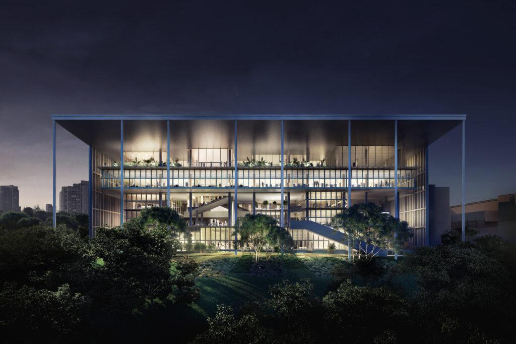 Projekt: Net-Zero Energy Building @ School of Design Klimakonzept: Transsolar KlimaEngineering