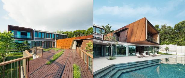House X in Singapur: Offen zu Licht und Landschaft