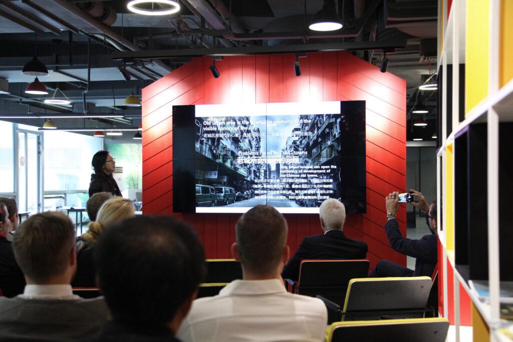 "Round Table ""Urban Regeneration"" Tongji University: LI Ran vom NAX-Patenbüro Rhinescheme"