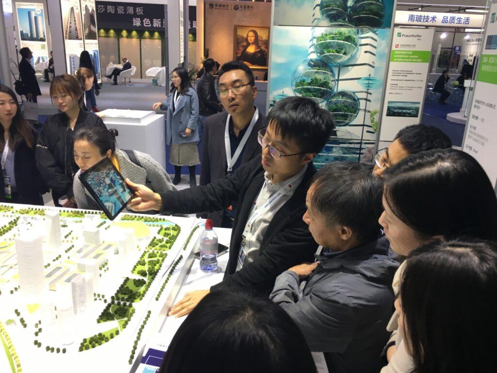 Abbildung 2: Auf der BAU Messe in Peking ausgestelltes Interaktives Stadtmodell