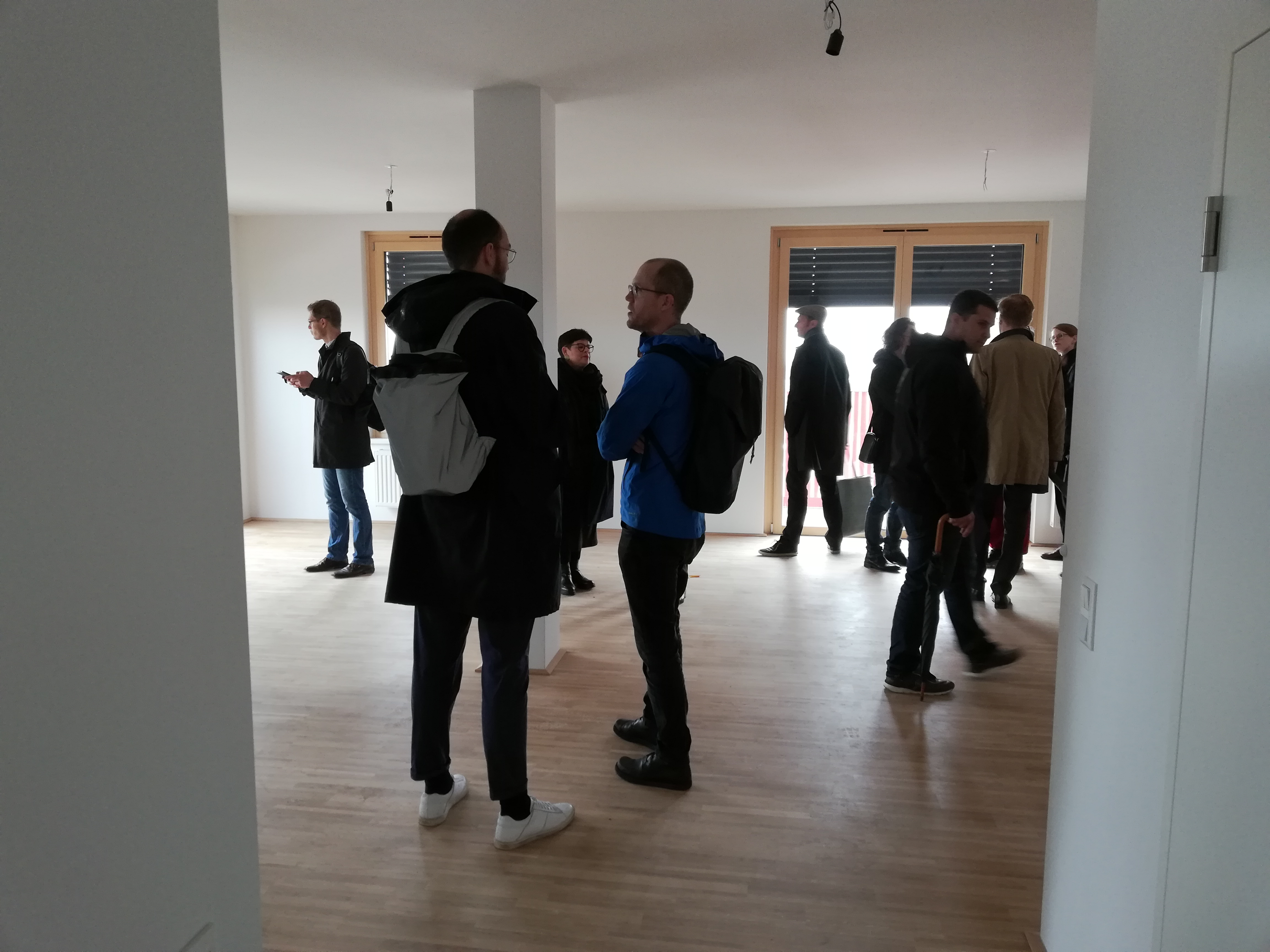 """Der Veranstaltungstag begann mit Projektbesichtigungen im Wiener Sonnwendviertel, hier des Projekts """"MIO"""" vom StudioVlayStreeruwitz."""