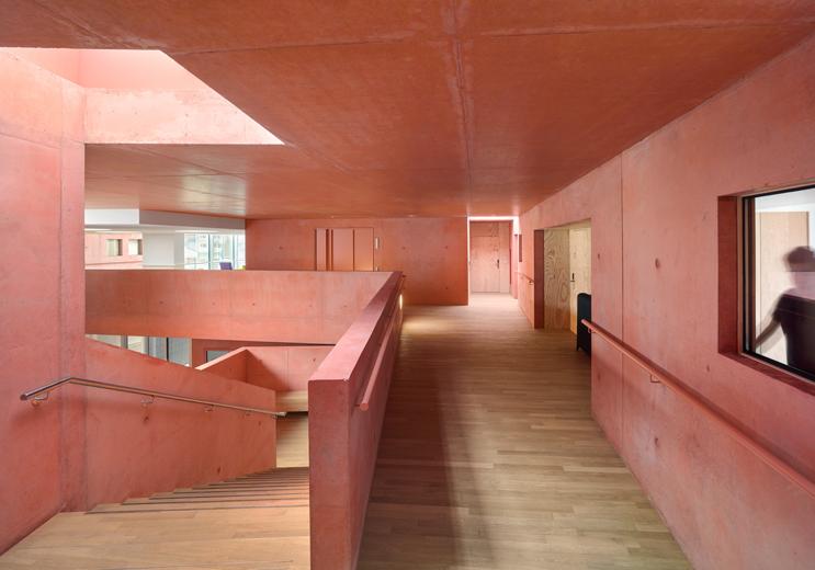 Seniorenwohnanlage in Huningue, Frankreich.  Architekt: Dominique Coulon & associés