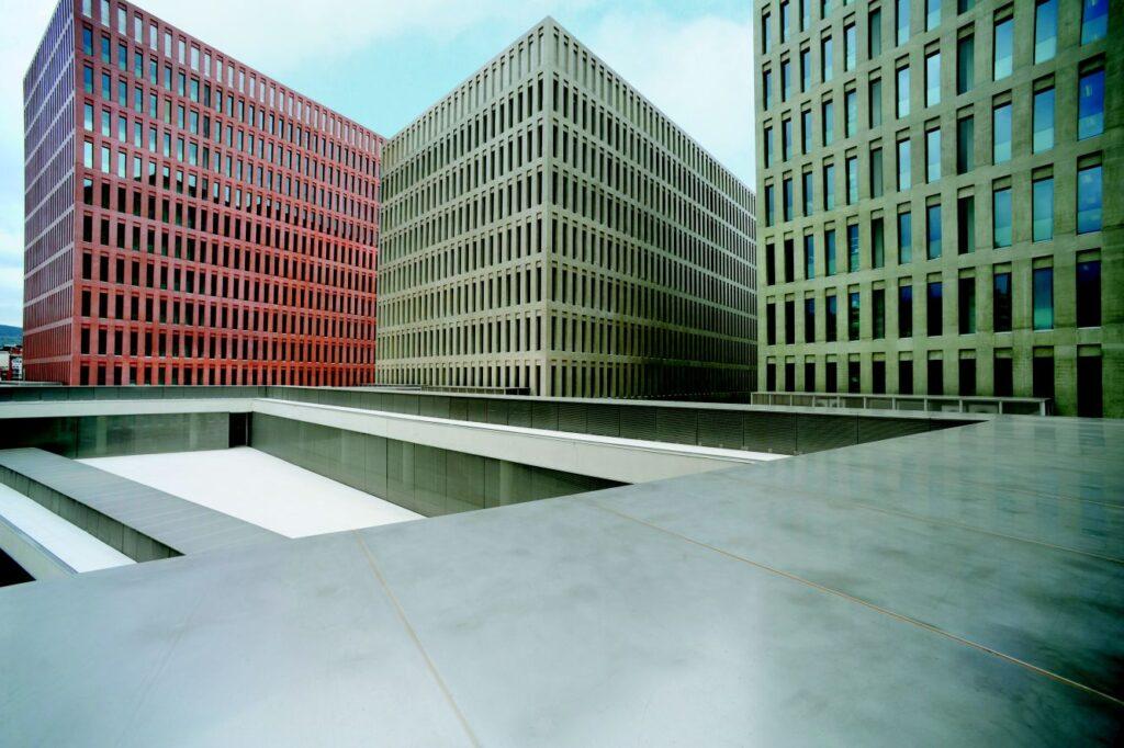 Ciutat de la Justícia in Barcelona, Spanien. Architekten: David Chipperfield Architects in Zusammenarbeit mit b720 Arquitectos