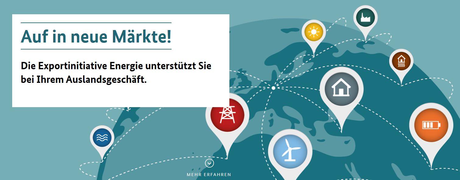 Veranstaltungskalender der Exportinitiative Energie / BMWi