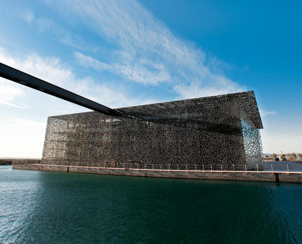 Musée des civilisations de l'Europe et de la Méditerranée (Mucem) in Marseille, Frankreich. Architekt: Rudy Ricciotti
