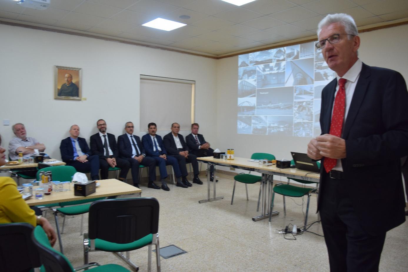 Gunther Adler beim German Technology Forum in Erbil ©AJG Ingenieure
