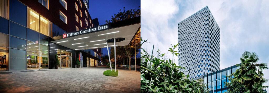 Im Hilton Garden Inn sowie im Plaza Hotel Tirana sorgen GEZE-Lösungen für Komfort und Sicherheit.