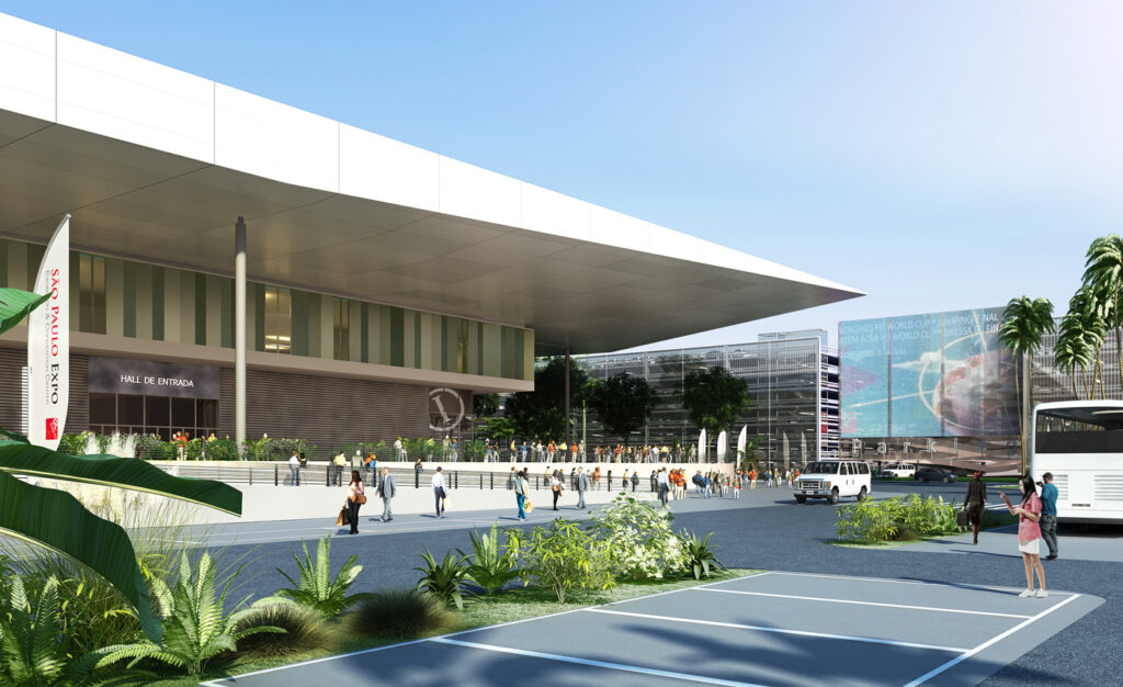 Rendering des Exhibition and Convention Center, Sao Paulo