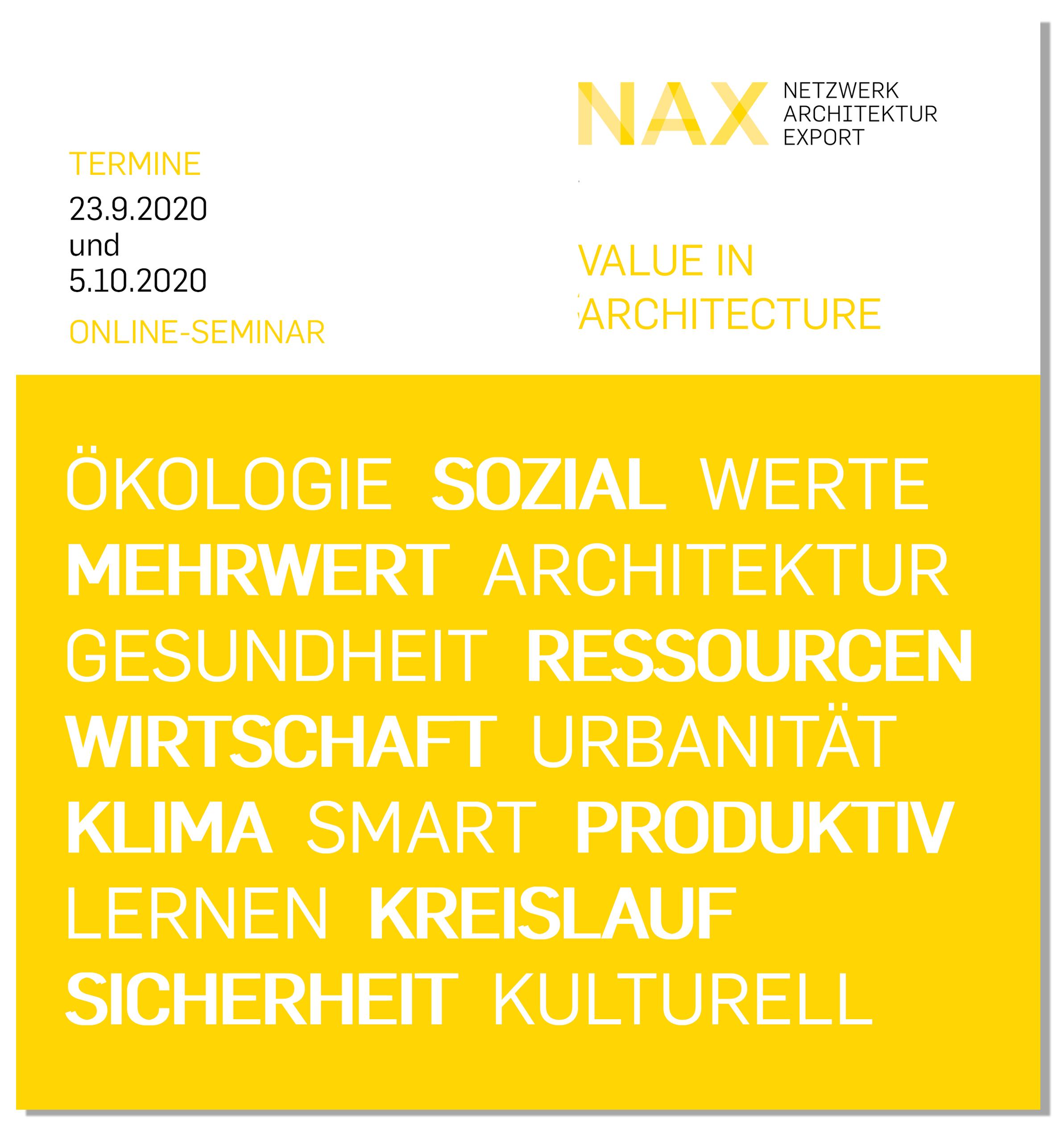 2020 NAX Online Seminar Value in Architecture