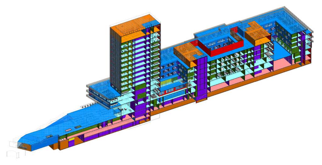 Schnittstelle von Objektplanung zur Analyse / Berechnung und Bemessung – European Investment Bank in Luxemburg,