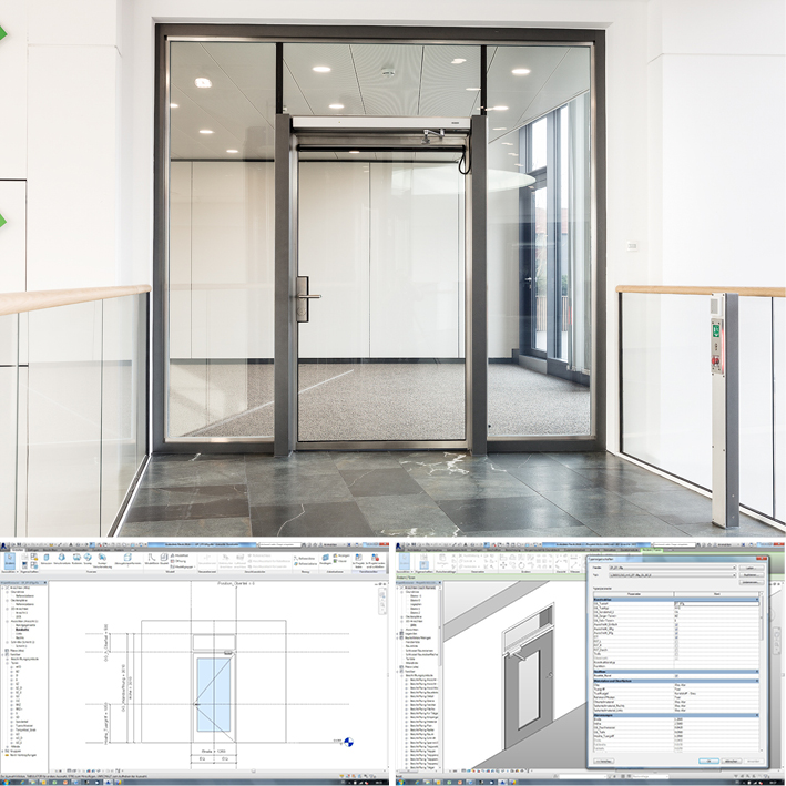 Die komplette Türenplanung mit GEZE BIM Objekten