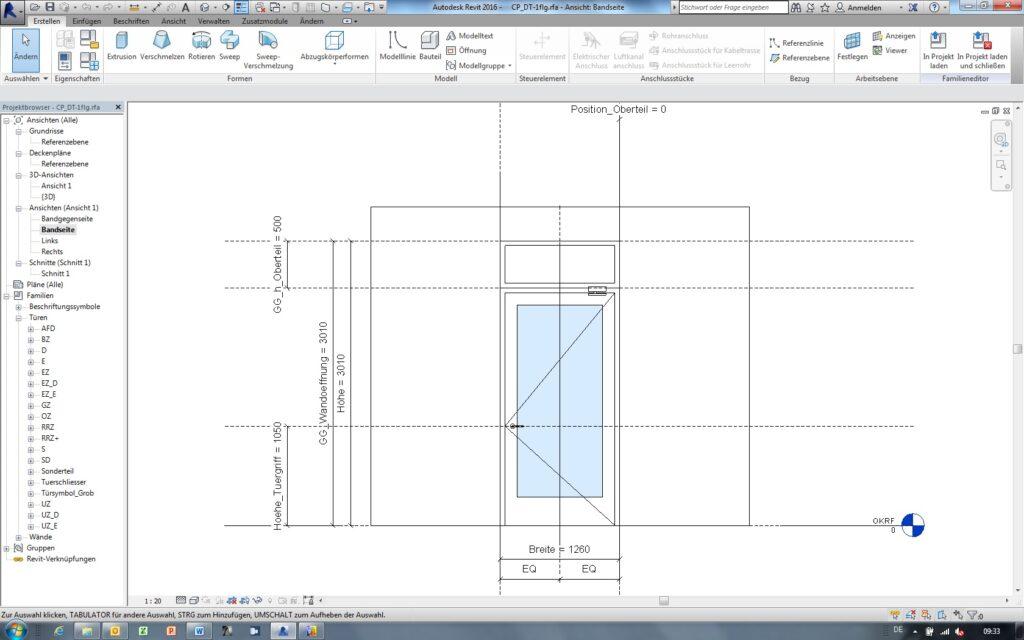 Neben 3D-Daten sind auch komplette Elementeigenschaften dargestellt