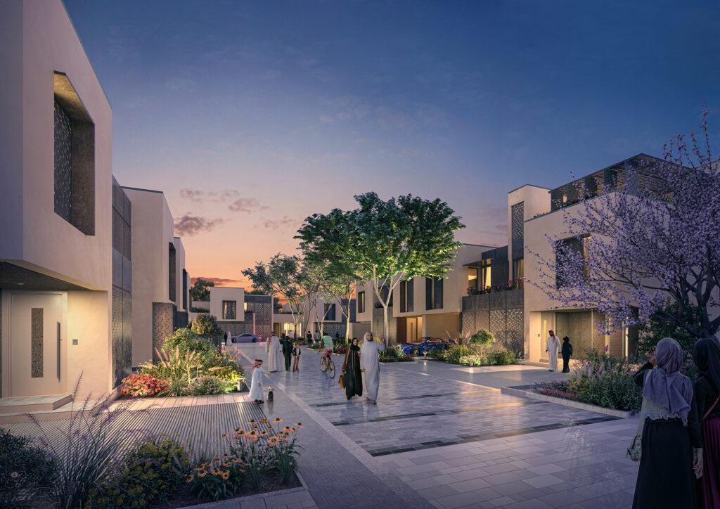 """Das """"Living Street"""" Konzept den neuen Wohnquartieren in Riad, Saudi-Arabien"""