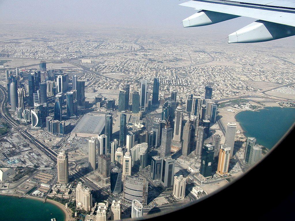 Doha/Katar aus der Luft