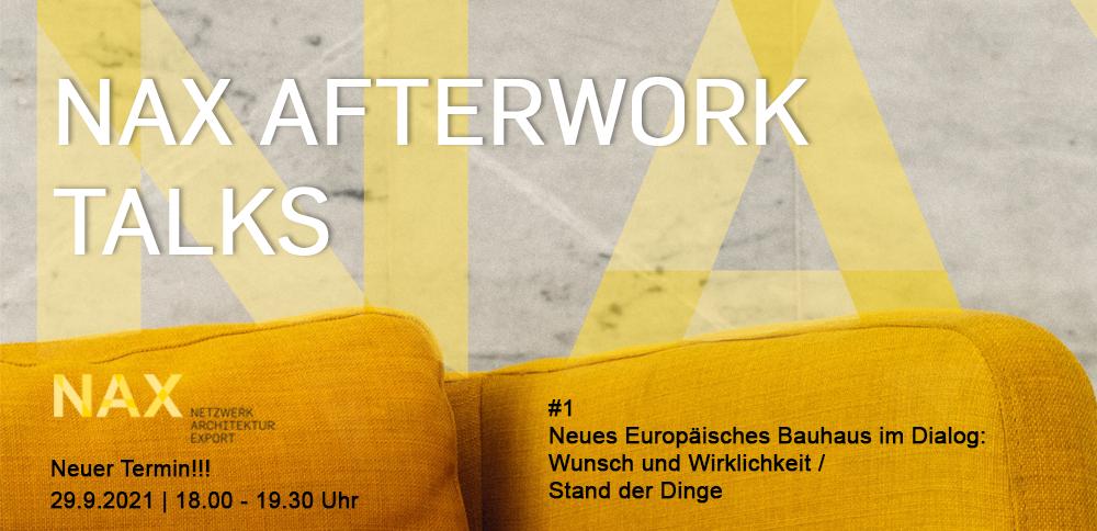 NAX AFTERWORK TALK – Neues Europäisches Bauhaus