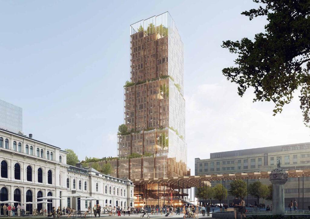 Rendering Hochhaus-Turm Fjordporten, Oslo