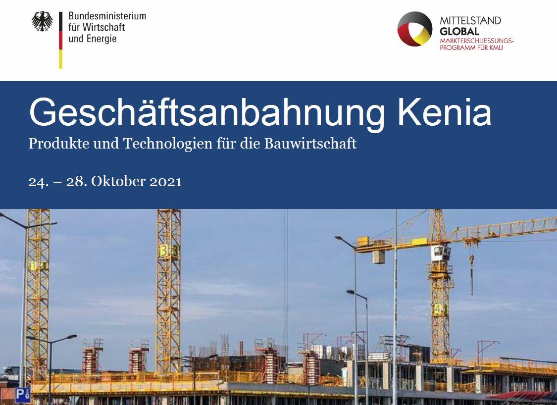 Geschäftsanbahnung Kenia – Produkte und Technologien für die Bauwirtschaft