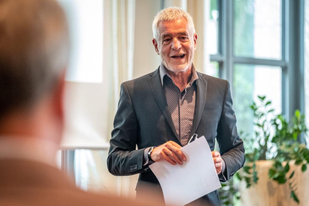 Ralf Niebergall, Vizepräsident der Bundesarchitektenkammer (BAK) beim NAX-Patentreffen 2021 ©Till Budde